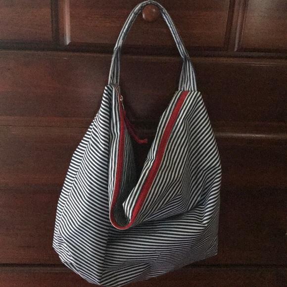 Lancome Handbags - Lancôme Microfiber Tote Bag Blue And White Stripe